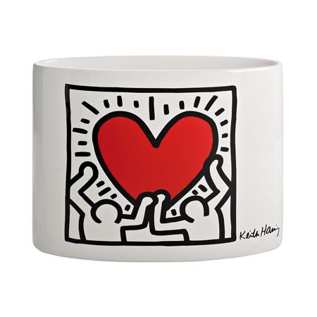 Lenzuola Matrimoniali Keith Haring.Men With Heart
