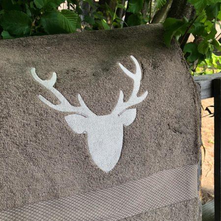 BKEOY Asciugamano da Bagno Invernale Foresta Fauna Selvatica Cervo Asciugamano Mare